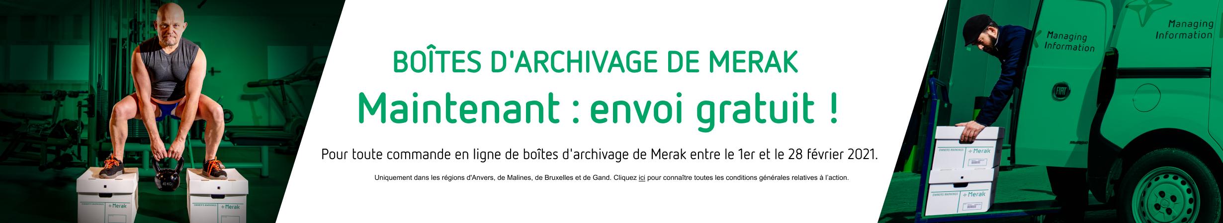 Boites d'archivage de Merak